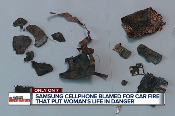 Điện thoại Samsung phát nổ, thiêu rụi nguyên chiếc ô tô