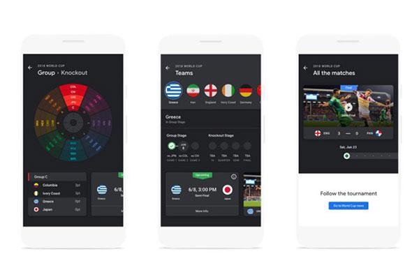 Google cập nhật loạt ứng dụng cho mùa World Cup, dọn cỗ cho fan bóng đá