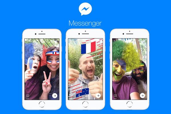 Facebook Messenger bổ sung nhiều game và bộ lọc ảnh chủ đề World Cup