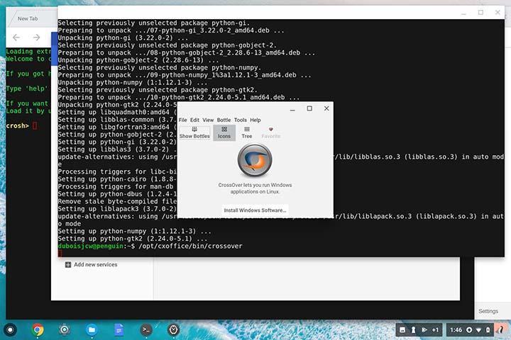 Chromebook có thể chạy ứng dụng Windows, nhưng cài đặt chúng không hề dễ dàng