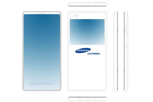 Smartphone Samsung sẽ có màn hình phụ ở mặt lưng?