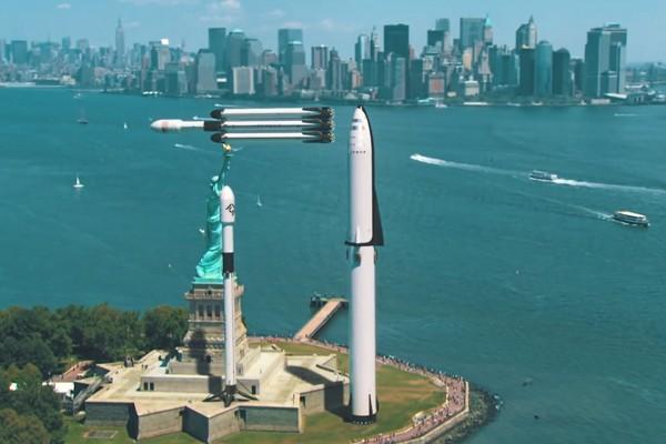 Elon Musk khoe kích thước khổng lồ của loạt tên lửa do SpaceX chế tạo