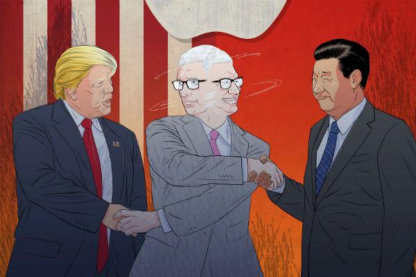 """Tim Cook vô tình trở thành """"đại sứ hòa bình"""" của Mỹ và Trung Quốc"""