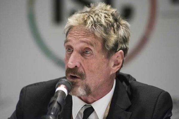 Chuyên gia bảo mật John McAfee tuyên bố bị đầu độc