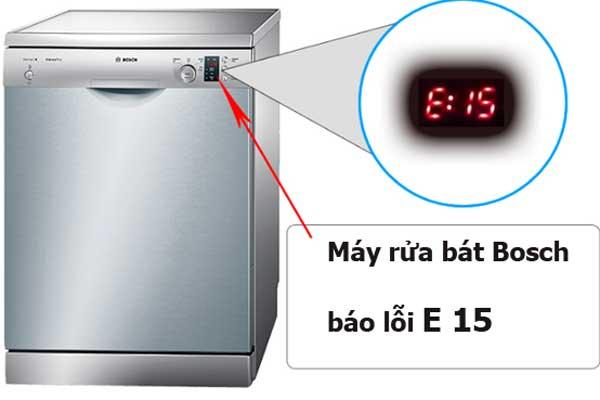 Máy rửa bát Bosch báo lỗi E15 là lỗi gì? Cách tự khắc phục không cần đến thợ