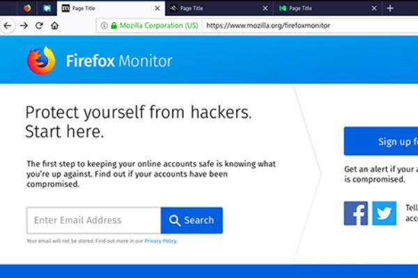 Firefox sẽ báo cho người dùng biết nếu tài khoản của họ bị xâm phạm