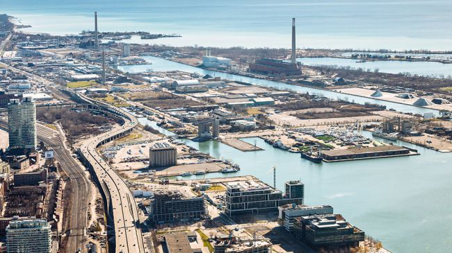 Khung cảnh thành phố tương lai do Sidewalk Labs  nằm tại Eastern Waterfront thuộc Toronto, Canada