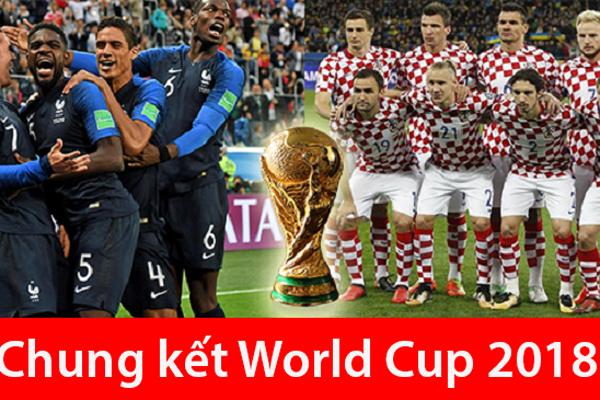 Lịch thi đấu trận chung kết World Cup 2018 giữa Pháp và Croatia
