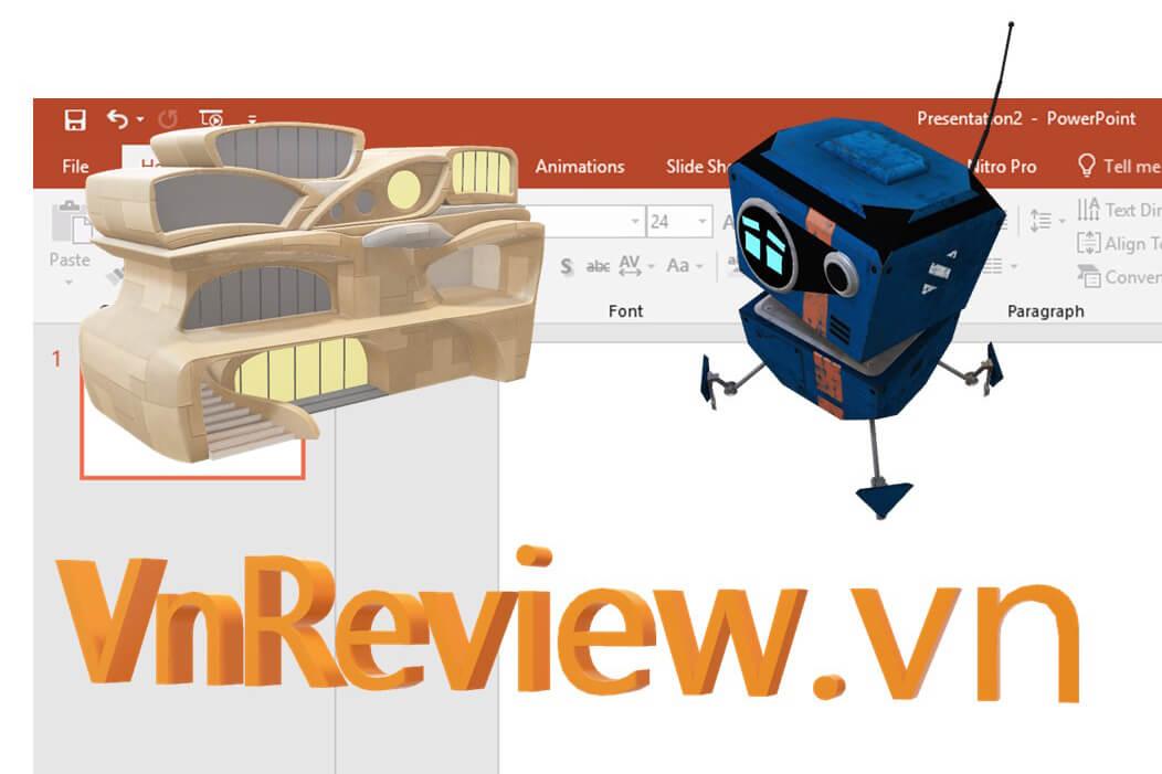 Office 2016 cho phép chèn mô hình 3D vào Word và PowerPoint, đây là cách thực hiện