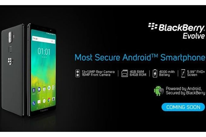 BlackBerry Evolve và Evolve X ra mắt chính thức với màn hình hợp thời trang và giá cả hợp lý