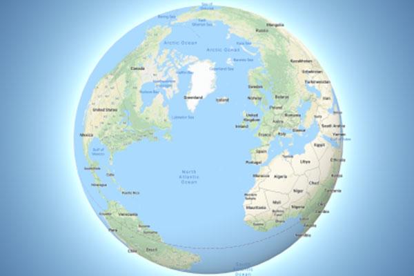 Google Maps cuối cùng cũng hiển thị Trái Đất hình cầu, không còn phẳng nữa