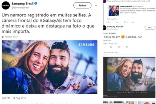 Samsung dùng ảnh tải trên mạng để quảng cáo cho camera Galaxy A8