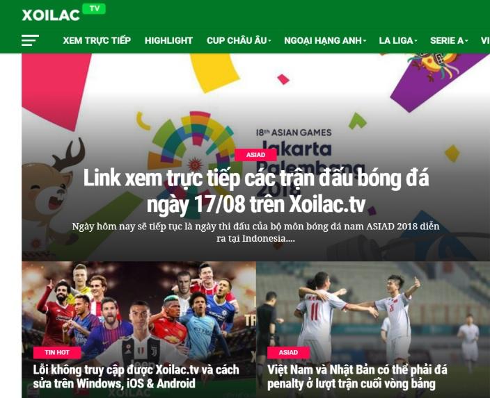 Xôi Lạc TV có thể bị kiện vì phát 'lậu' các trận đấu của U23 Việt Nam