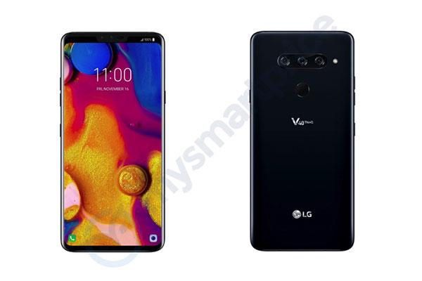 """LG V40 ThinQ lộ diện: có """"tai thỏ"""" và 5 camera"""