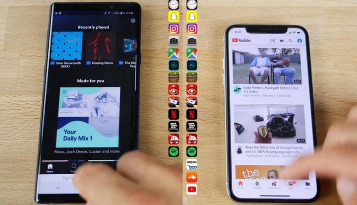 Đọ hiệu năng iPhone X và Galaxy Note 9: iPhone mở nhanh hơn, đa nhiệm kém hơn - Ảnh 2.