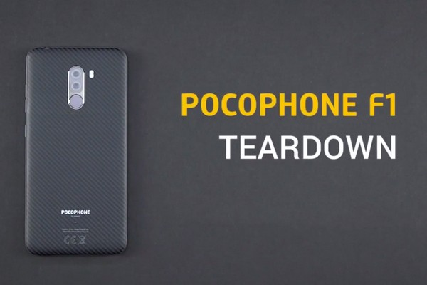 """""""Mổ bụng"""" Pocophone F1: Chỉ cần tháo một vít để mở lắp lưng, khá dễ sửa chữa và thay thế"""