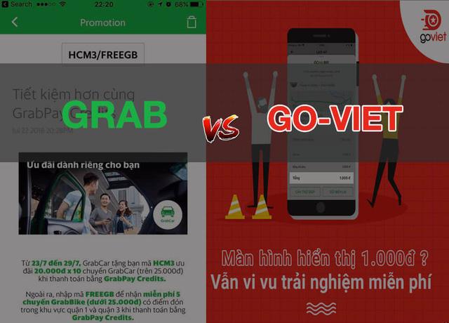 """""""Đại chiến kim tiền"""" giữa Grab và Go-Viet"""