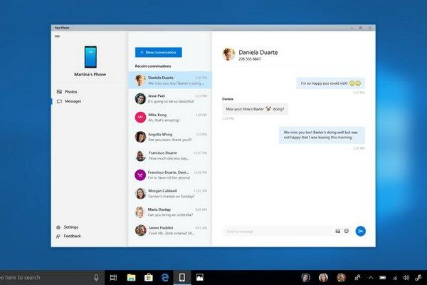 Người dùng Android sắp có thể gửi tin nhắn SMS ngay từ Windows 10