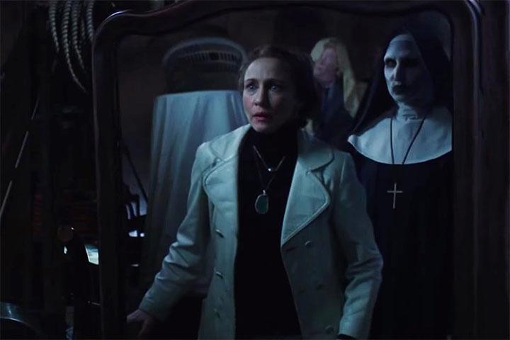 Ác quỷ Valak xuất hiện trong hình dáng một bà sơ đáng sợ trong Conjuring 2