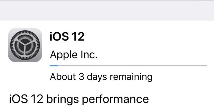 Cách hủy gói cập nhật iOS 12 trong khi nó đang tải về trên
