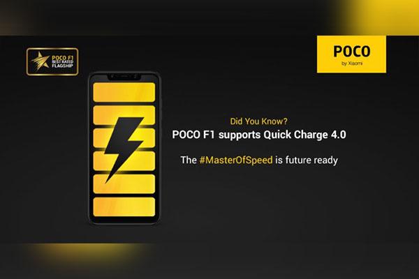 Poco F1 được xác nhận hỗ trợ Quick Charge 4.0, chống tràn nước
