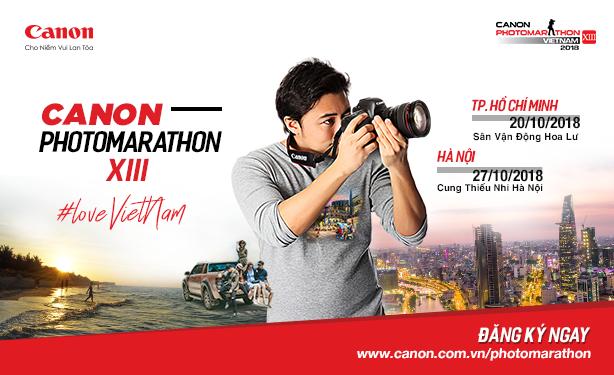 Canon Photomarathon 2018 chính thức khởi động, chấp nhận cả ảnh từ Drone, Action Cam
