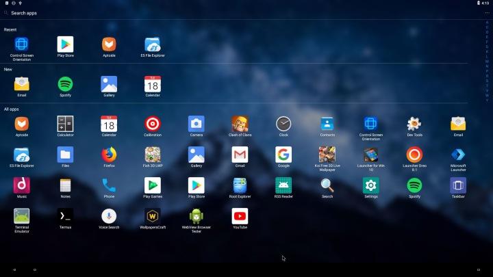 Trải nghiệm Android 8.1 Oreo phong cách Windows 10
