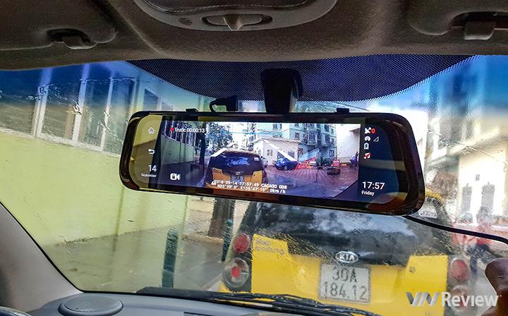 Trải nghiệm camera hành trình Cacago G08: màn gương 10 inch, hỗ trợ 4G, đa năng