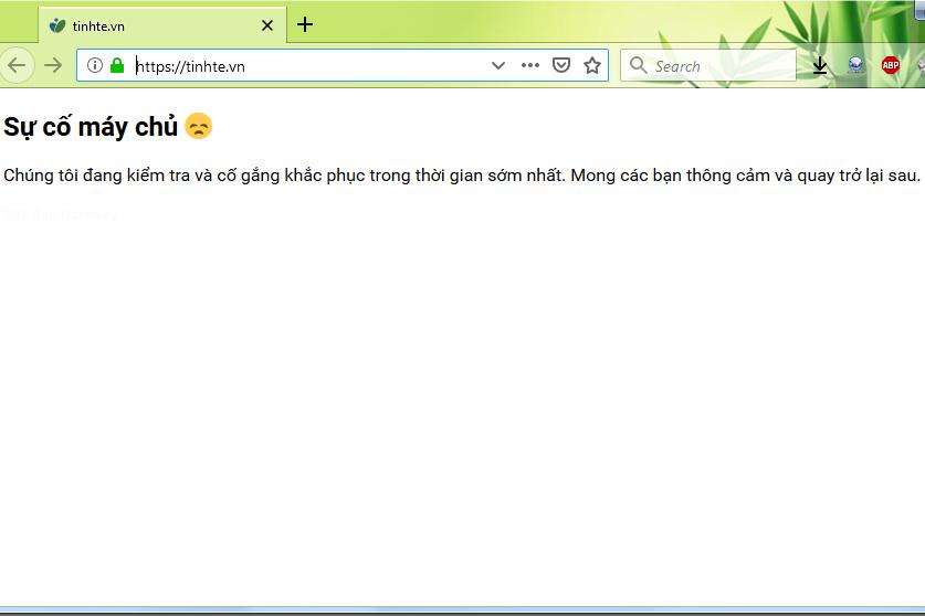 Web Tinhte.vn bị sập, truy cập chập chờn lúc được lúc không