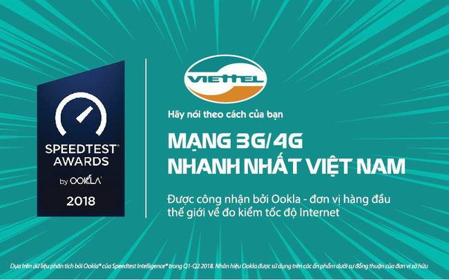 Thống kê của SpeedTest: Viettel là mạng di động nhanh nhất
