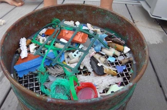 Các mảnh nhựa thường trôi nổi trên đại dương