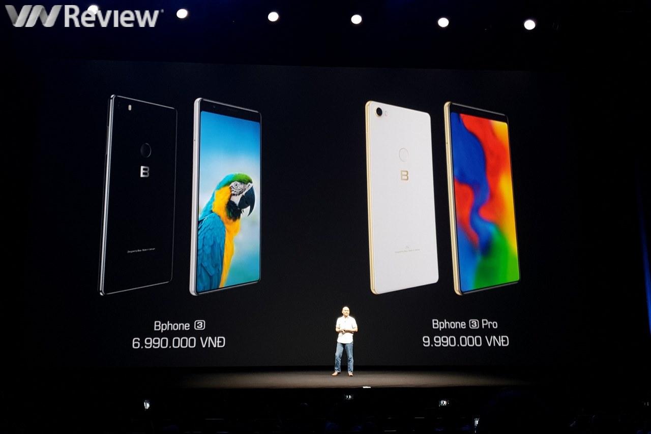 Bphone 3 chính thức trình làng: màn hình tràn đáy, chống nước IP68, camera AI, giá từ 6,99 triệu đồng