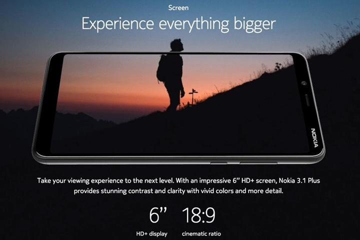 Nokia 3.1 Plus chính thức ra mắt với màn hình 6 inch không tai thỏ, giá 3,6 triệu đồng