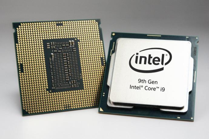"""Chip Core i9-9900K được hãng tuyên bố là """"vi xử lý game tốt nhất"""" với 8 lõi  và 16 luồng, xung nhịp 3.6 GHz, có thể được ép xung lên tới 5.0 GHz."""