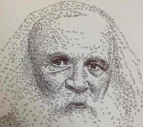 10X Hải Dương vẽ chân dung nhà khoa học bằng công thức Toán, Vật lý