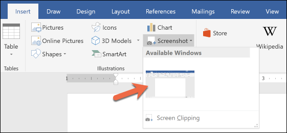 Hướng dẫn chụp ảnh màn hình bằng… Microsoft Word 2016