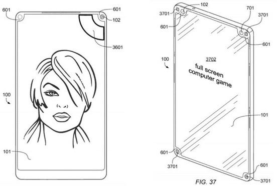 Một nốt ruồi hay một tai thỏ chưa là gì, kỹ sư người Đức này còn vừa đệ trình sáng chế smartphone với 4 nốt ruồi nằm ở 4 góc
