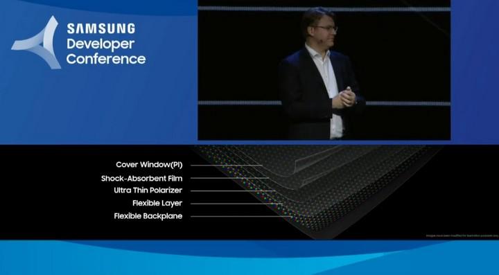 Samsung hé lộ smartphone màn hình gập đầu tiên của hãng, dùng màn hình Infinity Flex Display