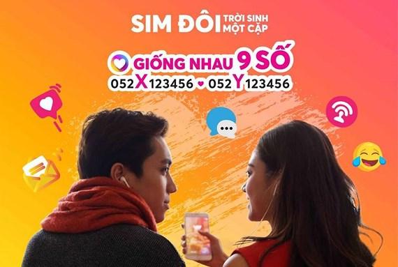 """Vietnamobile ra SIM đôi """"Trời sinh một cặp"""", giống nhau đến 9 số"""