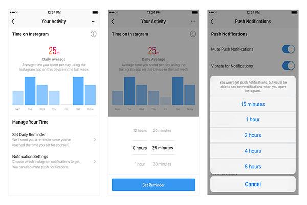 """Instagram ra mắt Your Activity, nối tiếp trào lưu """"cai nghiện mạng xã hội"""""""