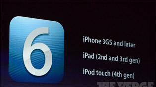iPad đời đầu, iPod thế hệ 3 không có iOS 6