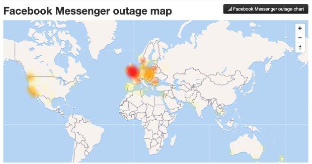 Bản đồ Messenger bị lỗi