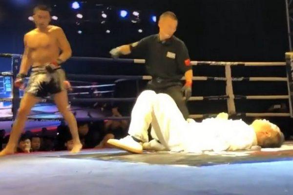 Kết quả hình ảnh cho võ sư thái cực bị đánh trong 5 giấy