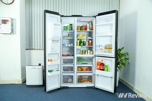 Đánh giá tủ lạnh Hitachi side-by-side R-M700AGPGV4X: có gì bên trong tủ lạnh 78,5 triệu đồng?