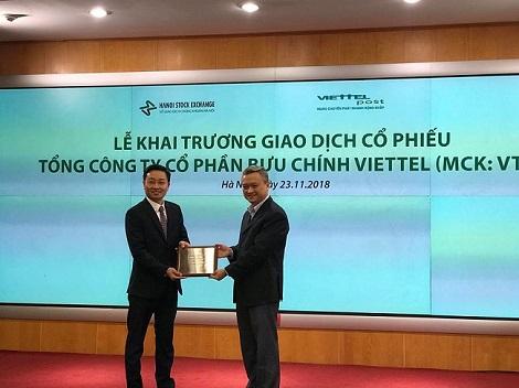Sau Viettel Global, cổ phiếu Viettel Post cũng lên sàn UPCOM, giá chào sàn 68.000 đồng
