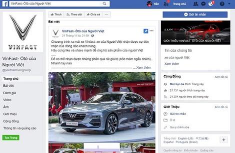 Trò lừa tặng 99 xe VinFast Lux A 2.0 xuất hiện trên Facebook