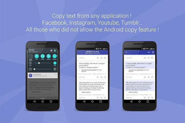 Universal Copy: phần mềm hỗ trợ copy văn bản mọi nơi trên smartphone Android