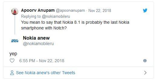 Nokia 8.1 có thể là chiếc smartphone tai thỏ cuối cùng của Nokia?
