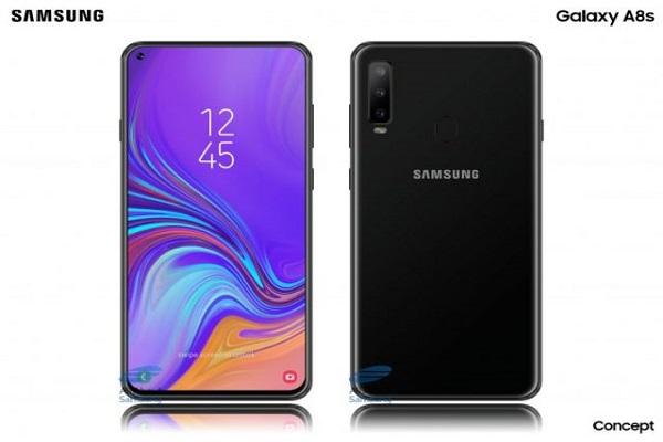 """Lộ mặt kính bảo vệ màn hình """"nốt ruồi"""" của Samsung Galaxy A8S"""