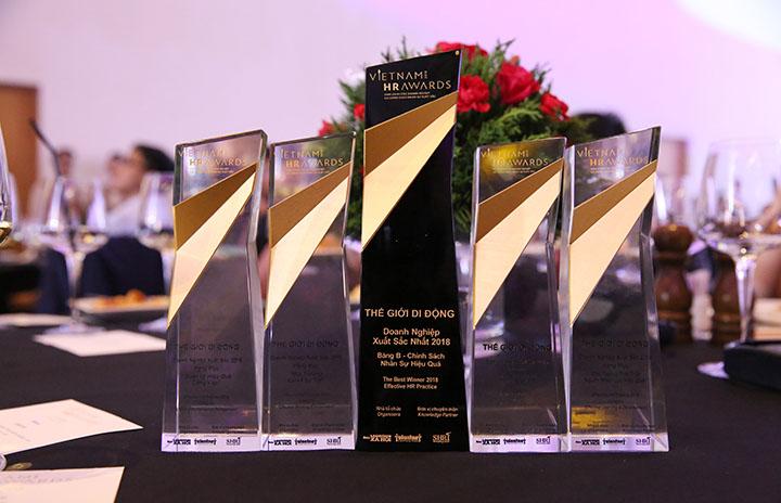 Thế Giới Di Động nhận liền 5 giải thưởng Vietnam HR Awards 2018